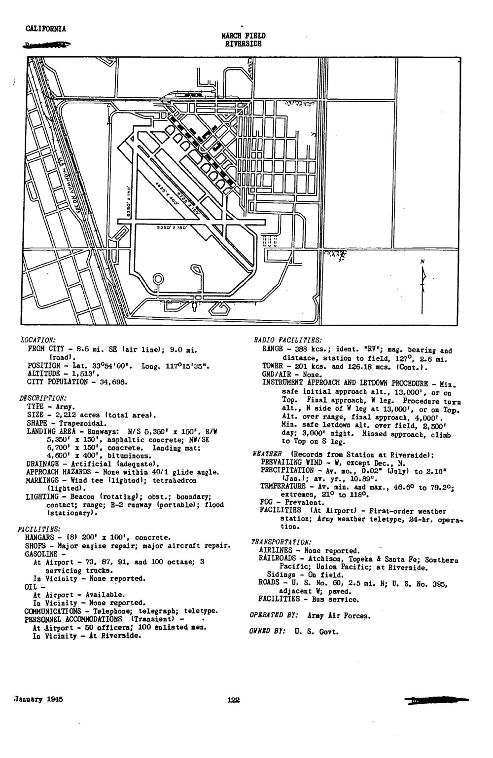 Historic California Airfields: March Air Reserve Base (Alessandro