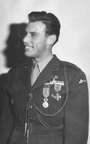 Major Peter Ortiz receiving the Legion d' Honour and Croix de Guerre