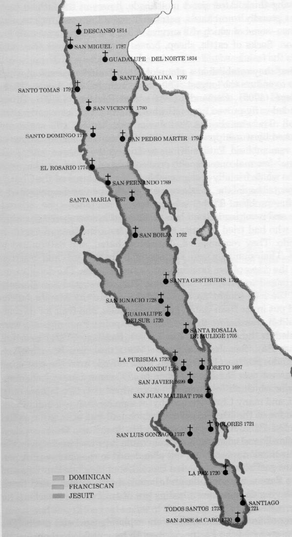 Presidios And Forts Of Spanish Of Alta California - California missions map
