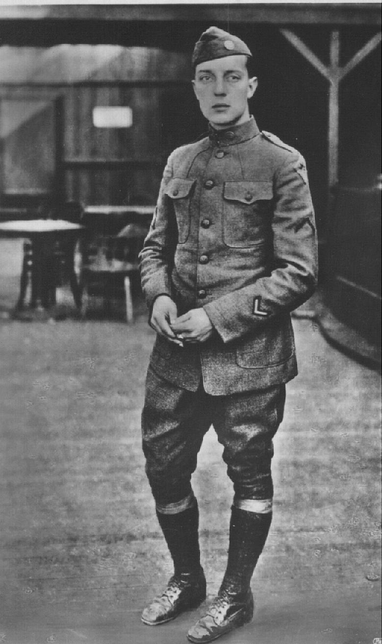 Private Buster Keaton, 40th Division