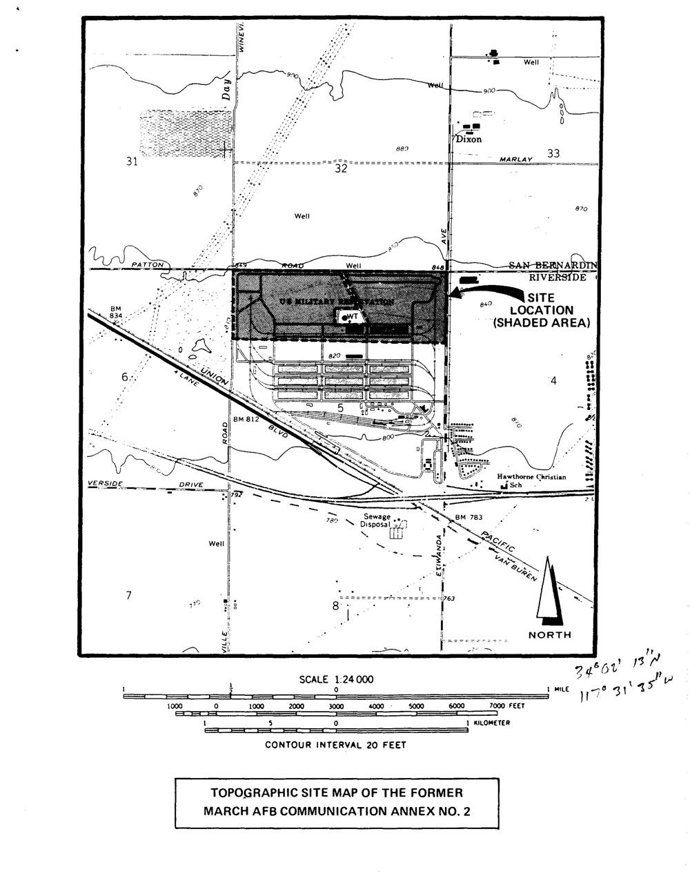 March Air Force Base Communications Annex No 2 Diagram 2jpg The Army And Improvements Remaining On Site Are Mostly Asphalt Roads Across